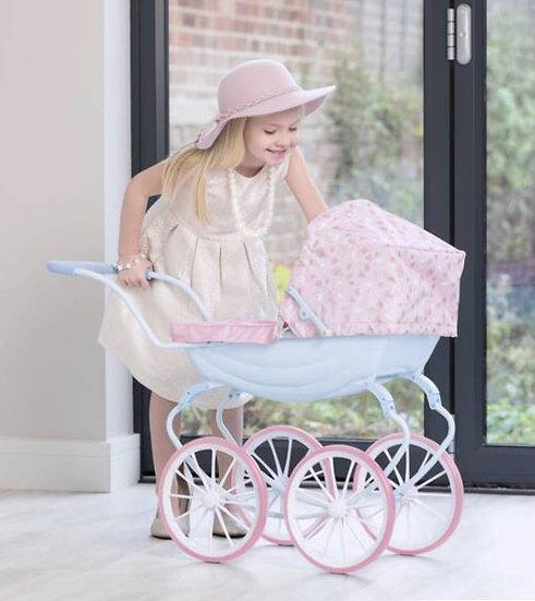 Коляска для кукол(розовая)