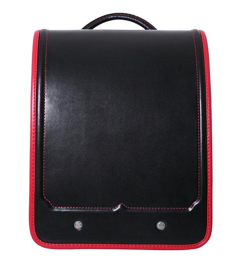 Школьный портфель (чёрный с красной каёмкой)