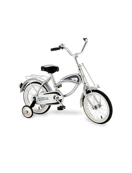 Велосипед с тренировочными колесами СЕРЕБРИСТЫЙ