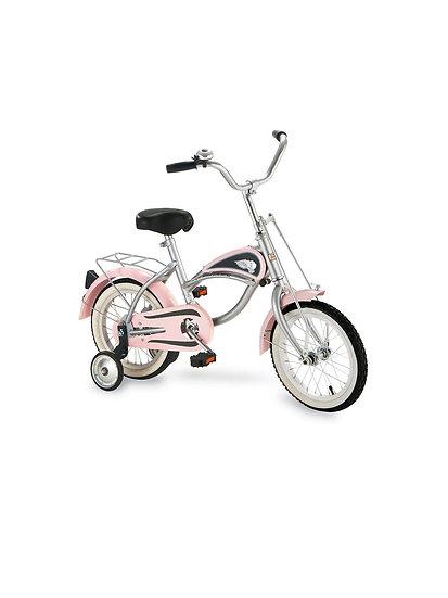 Велосипед с тренировочными колесами РОЗОВЫЙ