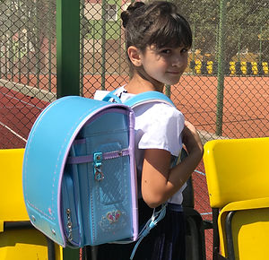 Школьный портфель (Голубой с перламутром)