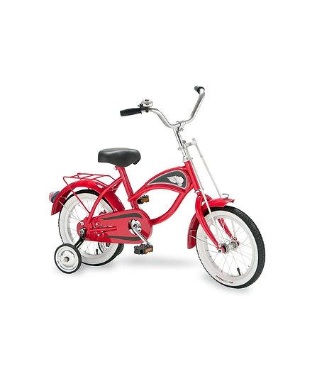Велосипед с тренировочными колесами КРАСНЫЙ