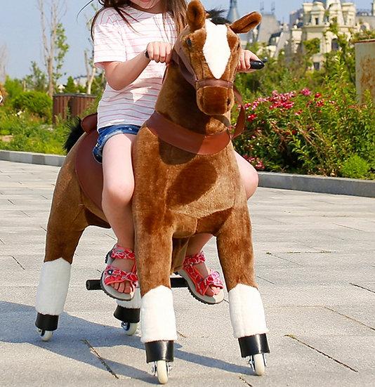 Механический Конь (Коричневый) 3-6 лет