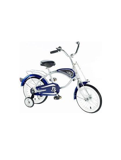 Велосипед с тренировочными колесами СИНИЙ