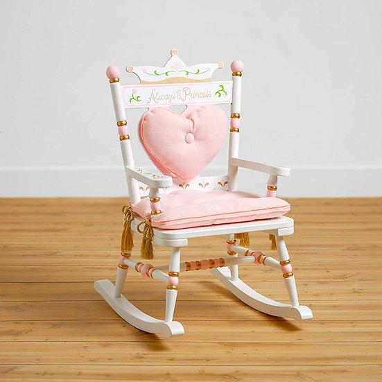 Кресло-качалка (розовато-розовой цветовой гамме)