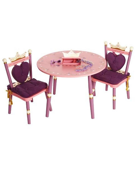 Деревянный набор стол с музыкой и два стула (фиолетовый)