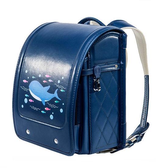 Школьный портфель (синий с дельфином)