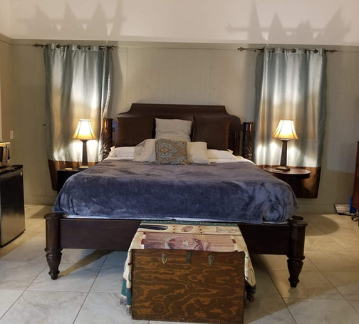 Luxury King bed and plenty of storage space