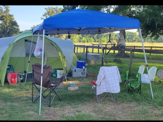 Tent camping, hookups avail.