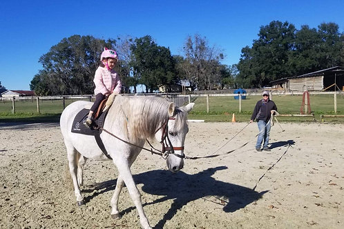 Riding lesson for ages 2-16