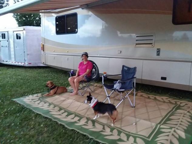 RV hookup campsite: starts at $20/night