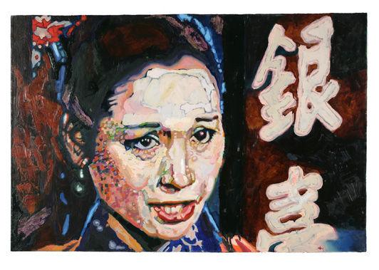 Monkey ,oil on canvas, 66cm x 100cm, Jun