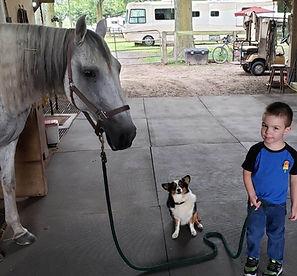 Kids love horseback riding at Diamond Oaks Ranch Hotel