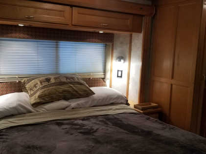 and queen bedroom, double and single beds
