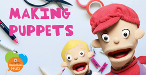 How to Make a Puppet For Kids - Crafternoons with Robbie, Kylie and Dean