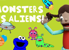 Monsters Vs Aliens Craft For Kids - With Camp Quality Puppets