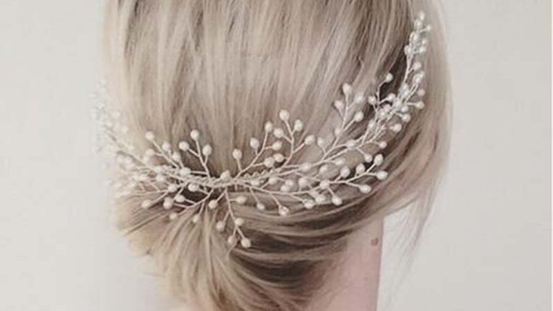 Freshwater pearl hair pin