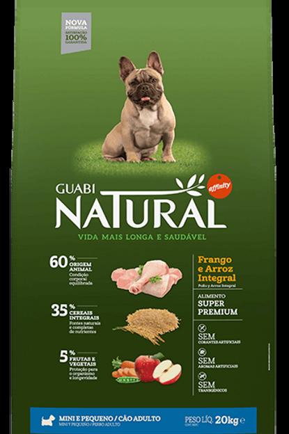 Ração Guabi Natural Frango e Arroz Integral para Cães Adultos Raças Mini 2,5Kg