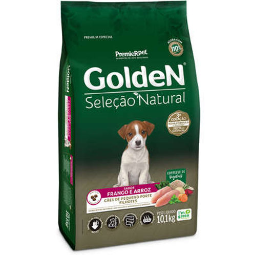 Ração Golden Seleção Natural Cães Filhote Frango e Arroz 3Kg