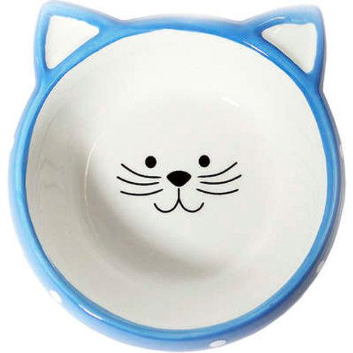 Comedouro de Porcelana para Gatos - Face Cat