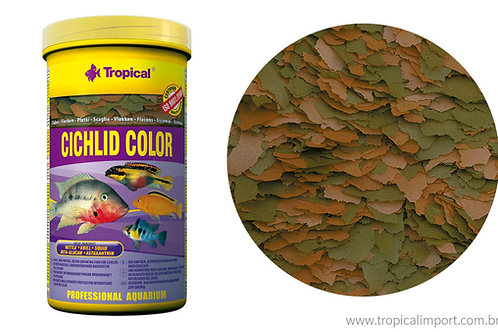 Ração Cichlid Color Flakes Pote 20 gr