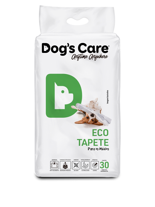 Tapete Higiênico Dog's Care Eco Médio Porte 30 UN