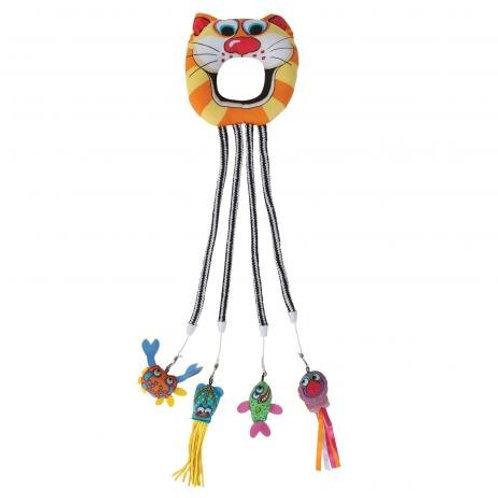 Brinquedo para porta Fatcat Catfisher Doorknob Hanger
