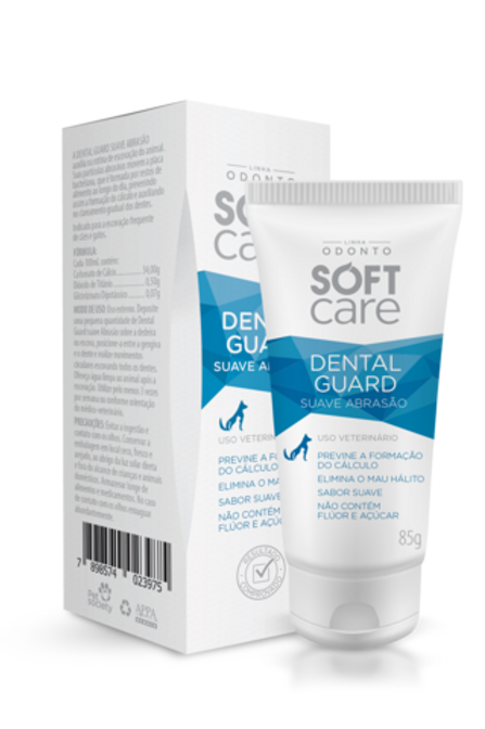 Pasta Dental Guard Suave Abrasão Pet Society Soft Care 85gr