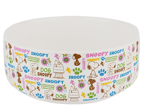 Comedouro ou bebedouro Snoopy  em Cerâmica