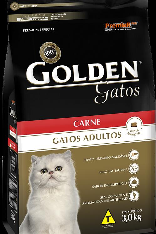 Ração Golden Gatos Adulto Carne