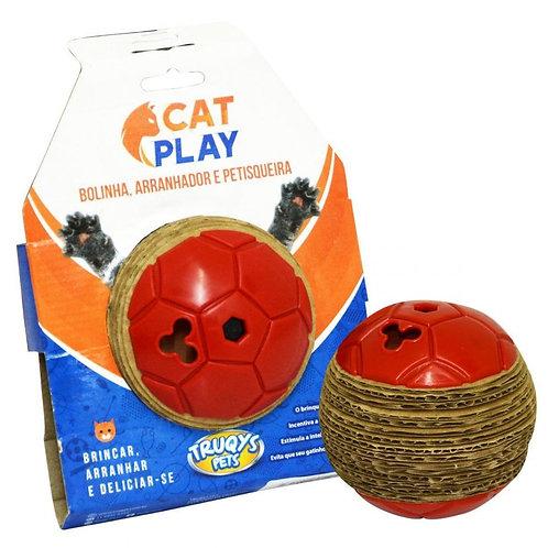 Brinquedo Bolinha Arranhador e Cat Play Vermelha