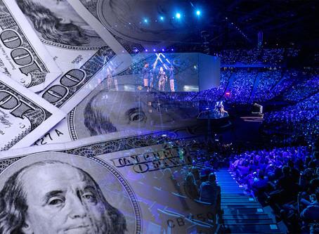 343 millions de dollars investis dans l'eSport en novembre