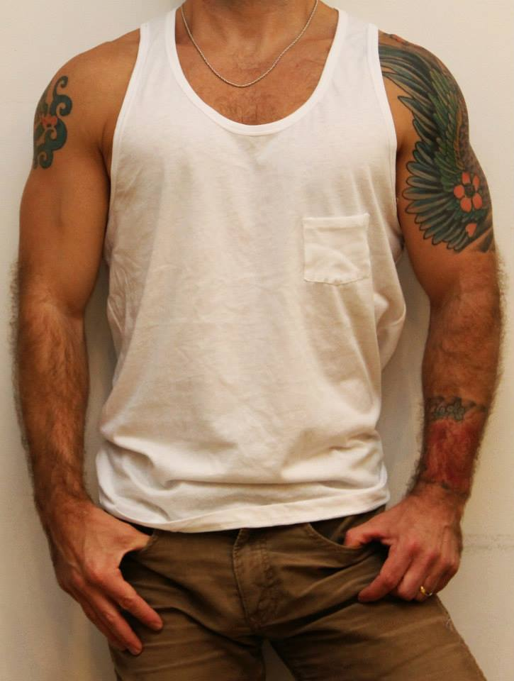Basic White Men's Tank Top