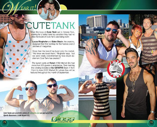 Great article about Cute Tank in Gloss Magazine!