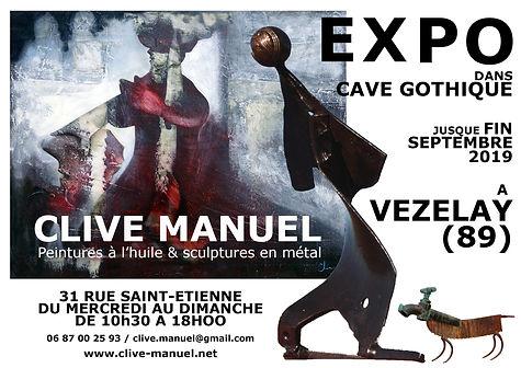 EXPO.VEZELAY.AFFICHE.clive.manuel.sculpt