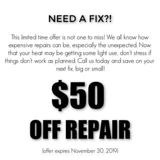 Fall 2019 Repair Special