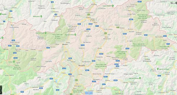 Mappa dettaglio provincia Bolzano