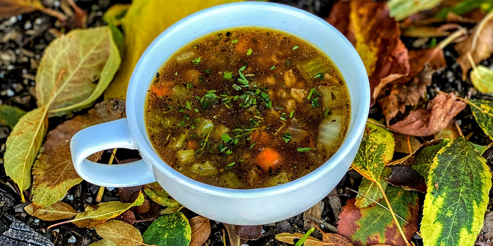 Sensational Soup Week November 25 - Beef and Farro with vegetables and herbs