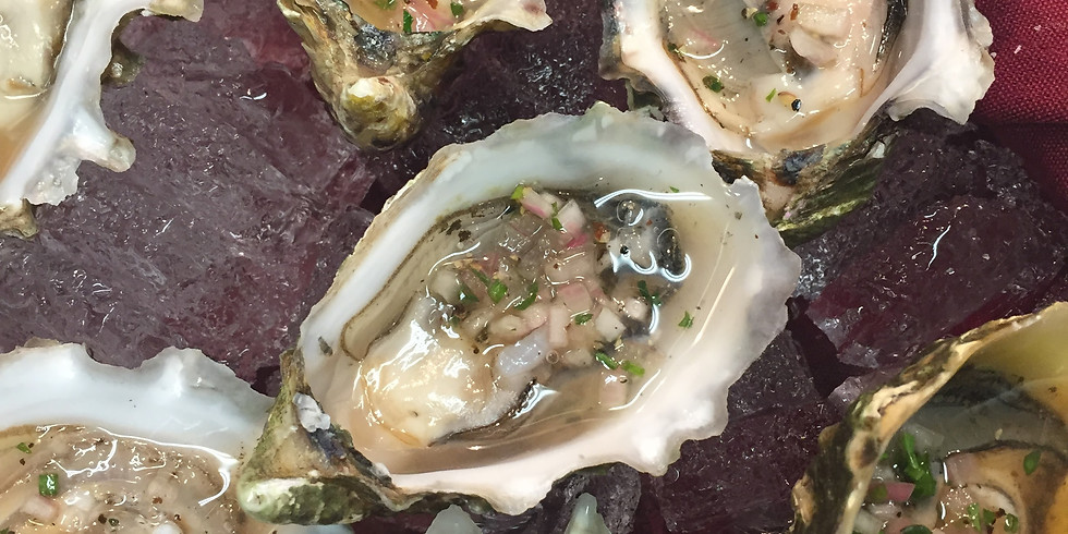 Join us at the Oyster Bar under the tent at di Arie Winery Tasting room