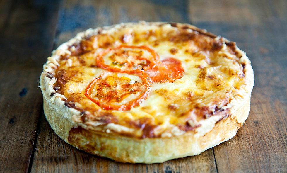 Tomato & Cheese Quiche