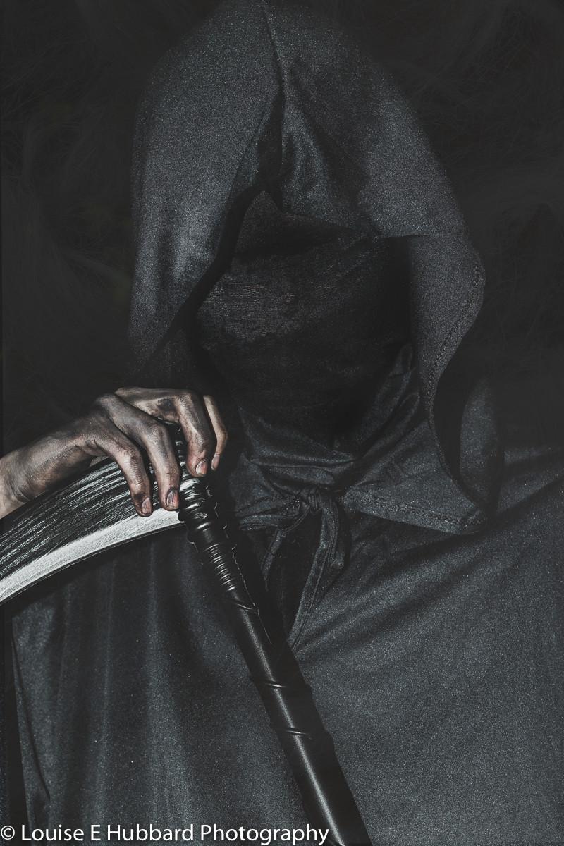 Grim Reaper Halloween photography