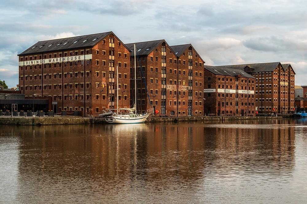 Photograph of Gloucester Docks.