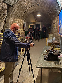 Photography friendly Tour attendees at Fort Amherst