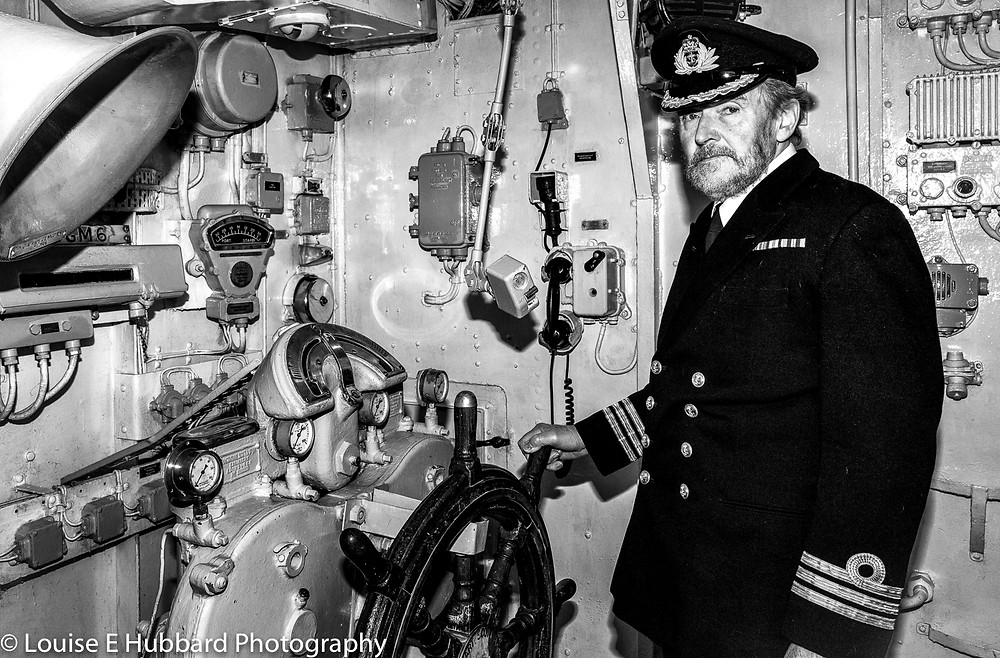 Captain on board HMS Cavalier at Chatham Historic Dockyard