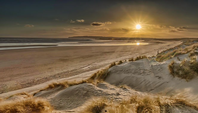 Camber sands at Sunset