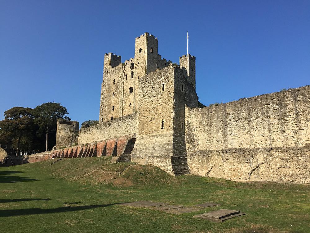 Rochester Castle in the Sun