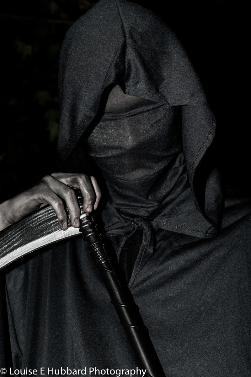 Grim Reaper Halloween photography editing