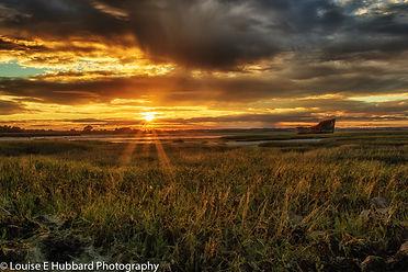 Sunset at Motney Hill, Rainham