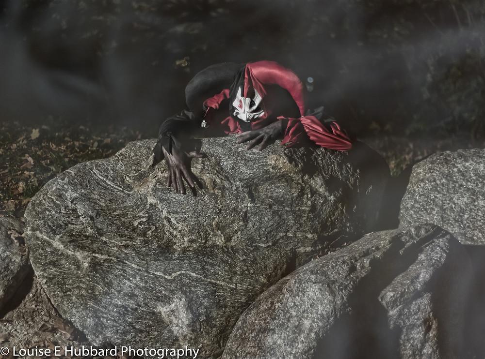 Creepy Jester, Halloween Photography