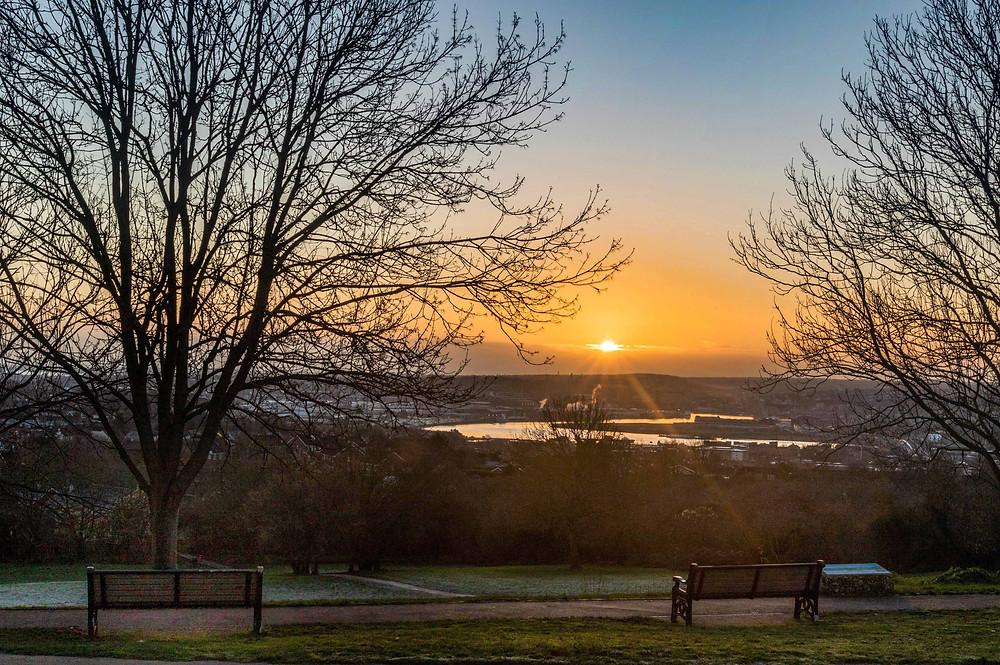 Rising Sun at Broom Hill Park, Strood